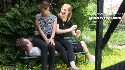13299 - Mina & Celeste Sit on a Boy 2
