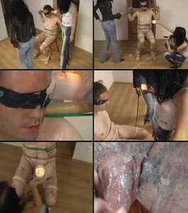 15558 - Two mistresses, candles and a slave 02